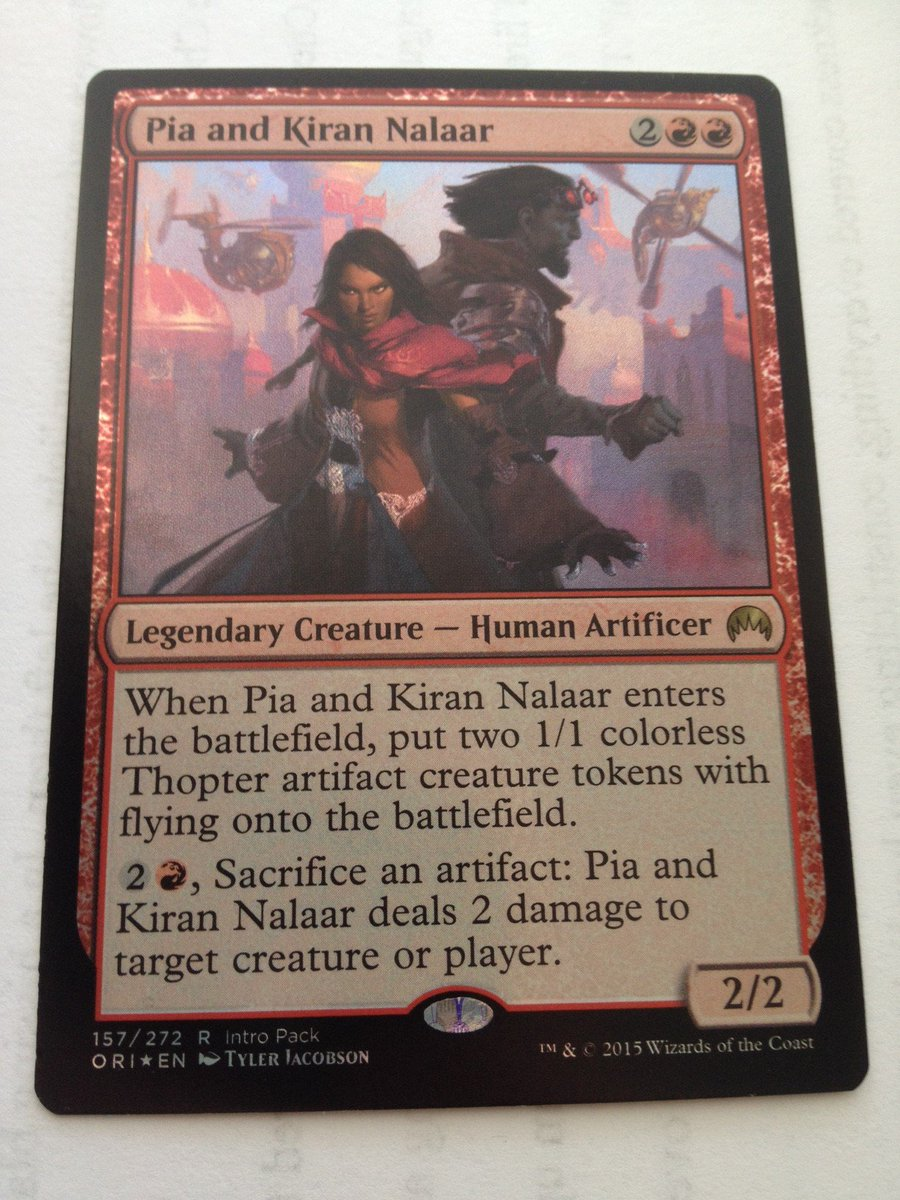 Retweet for a chance to win this alt-art foil, and to protest Pia's arrest by Consulate.  #Giveaway #MTGKLD #vorthos https://t.co/XilVsQCvwk