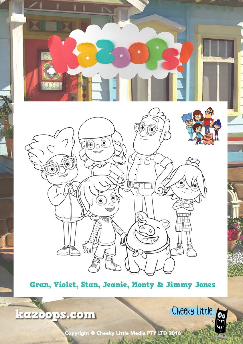 kazoops on twitter weve got a fun coloring sheet of montys whole family for your little kazoops fans to color enjoy