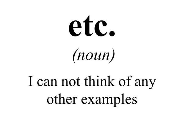 """The real meaning of """"etc."""""""