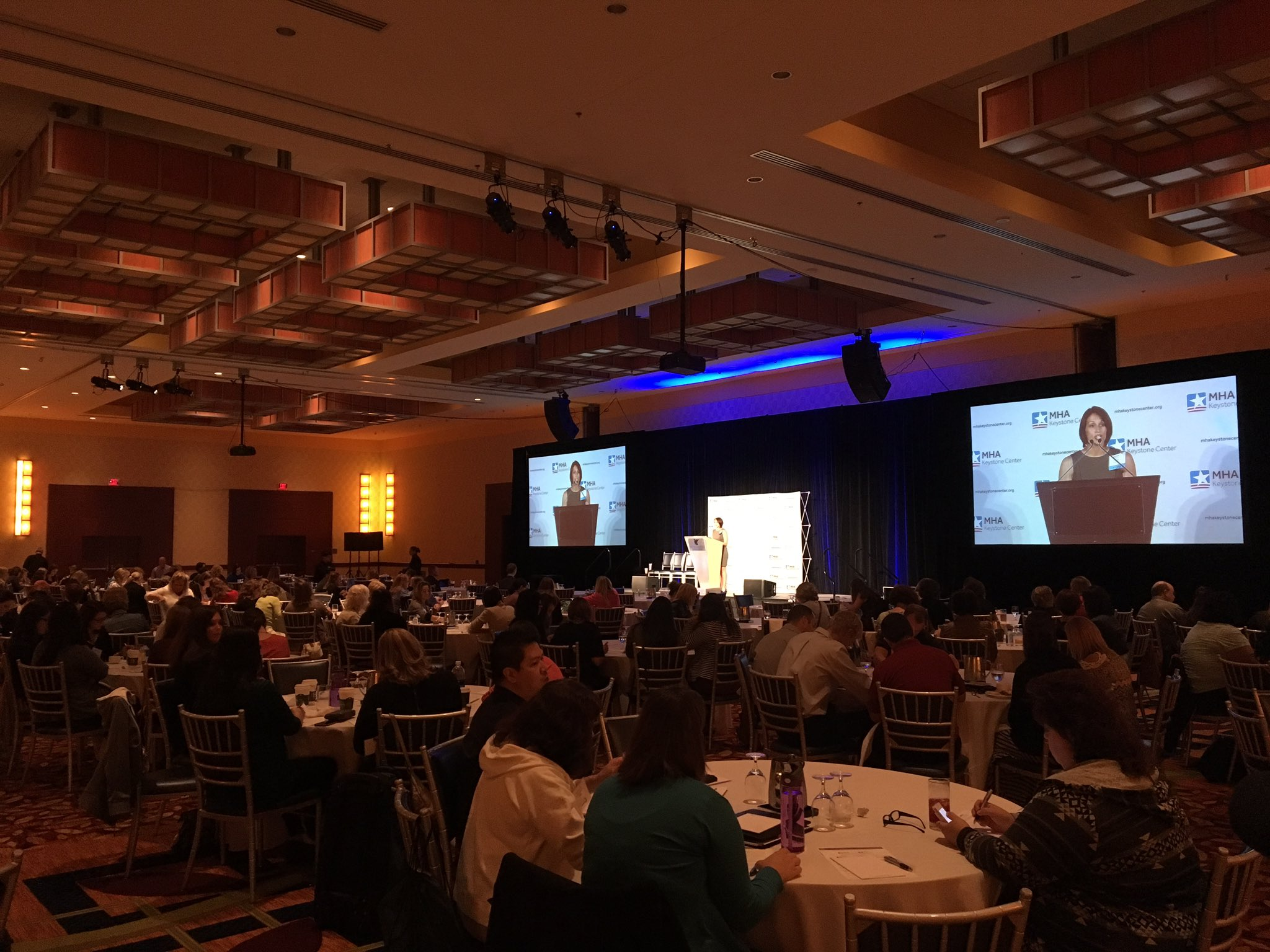 #MHAKeystone's @corinepope23 covers today's housekeeping items & encourages attendees to use Sli.do! #MHAKeystone https://t.co/J1JLKHs0Oh
