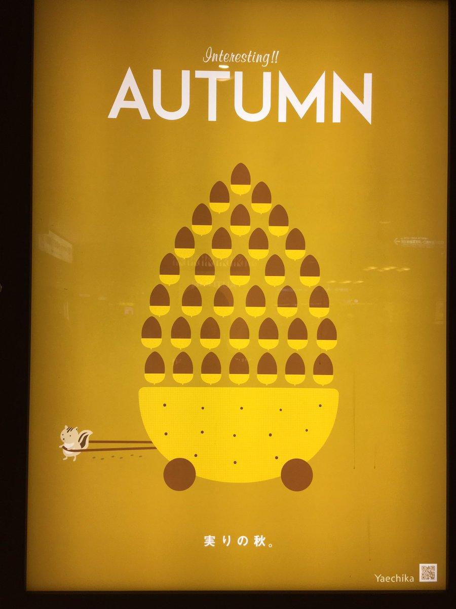 ヤエチカの秋の広告、今年も可愛かった。 毎年栗鼠推しでとても良い。 https://t.co/x4l1AOQVaT