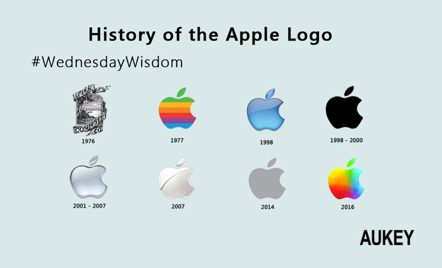 aukey on twitter quot hey guys which one is your favorite apple logo wednesdaywisdom ios10