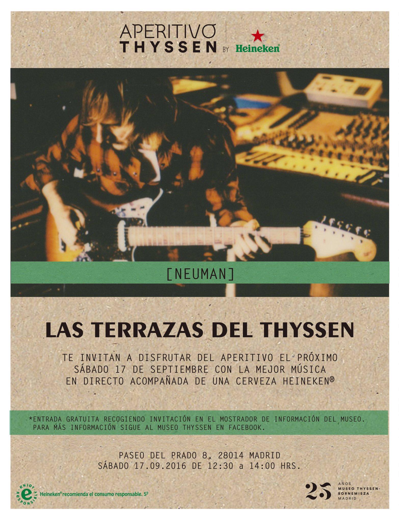 Concierto de Neuman en Aperitivos Thyssen