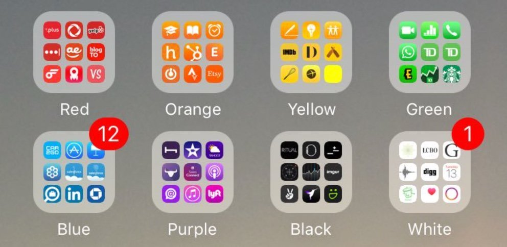 """Organizing Apps kevin talbot on twitter: """"organizing appscolor is like"""