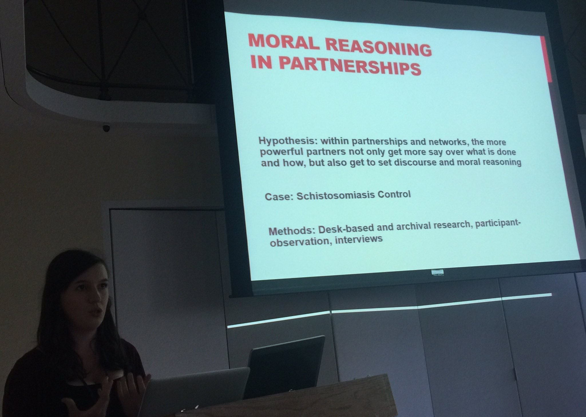#DSA2016 #P68 #Partnership #Power SophieHermans changing tropes 4 moral reasoning in Schisto/ deworming partnerships https://t.co/QsjN9GkszN