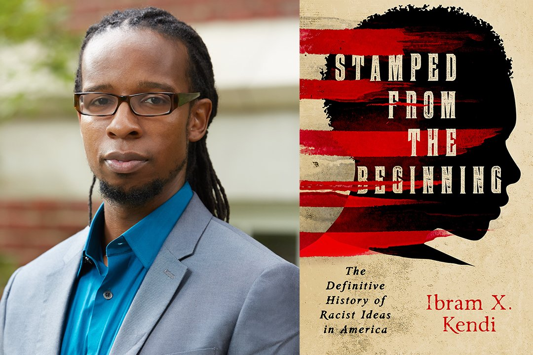 Professor Ibram X. Kendi and Book Cover