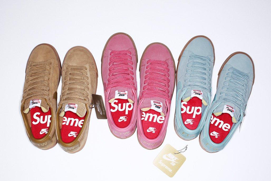Supreme x Nike SB Blazer Lows releasing tomorrow https   t.co  595a183e2