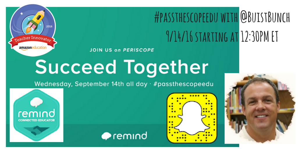 See you throughout the day on Periscope as we #SucceedTogether with @RemindHQ. #PasstheScopeEDU https://t.co/N960C8fu5M