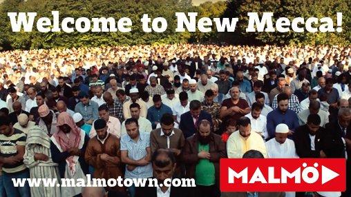 Malmö rebrandar sig internationellt för att locka religiösa turister att välja Malmö före Mecca.