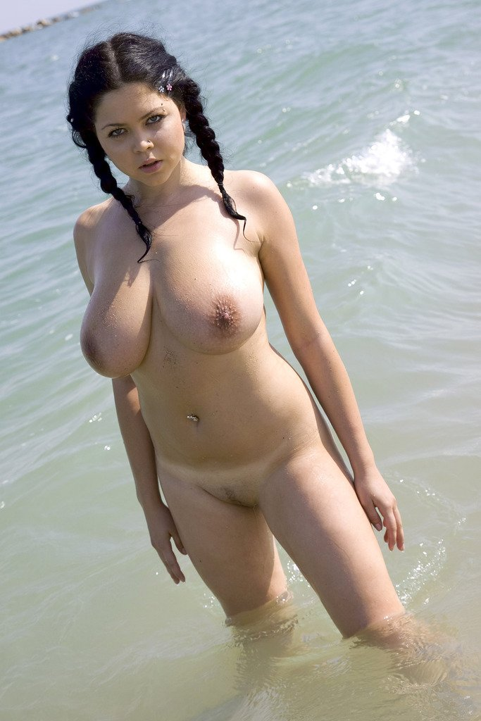 Girls big naked boobs nude beach