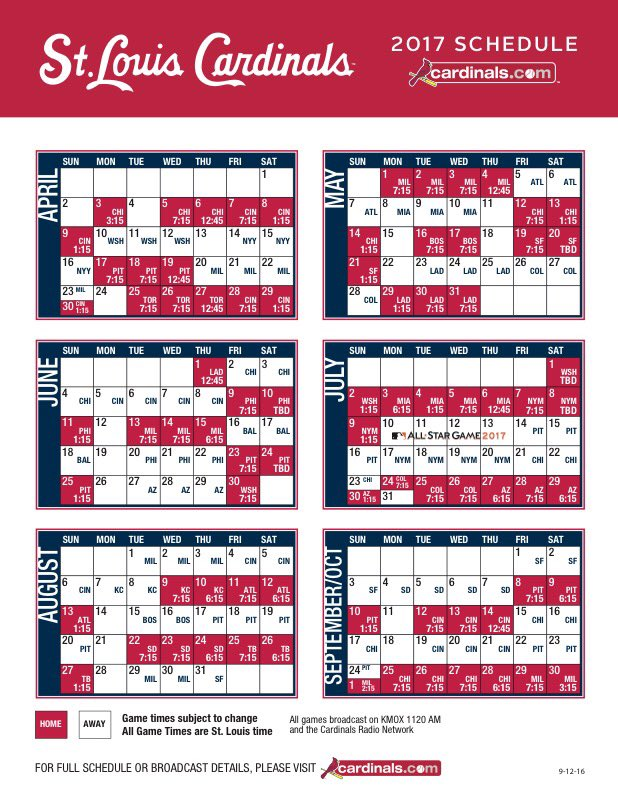 picture about St Louis Cardinals Printable Schedule named St. Louis Cardinals upon Twitter: \