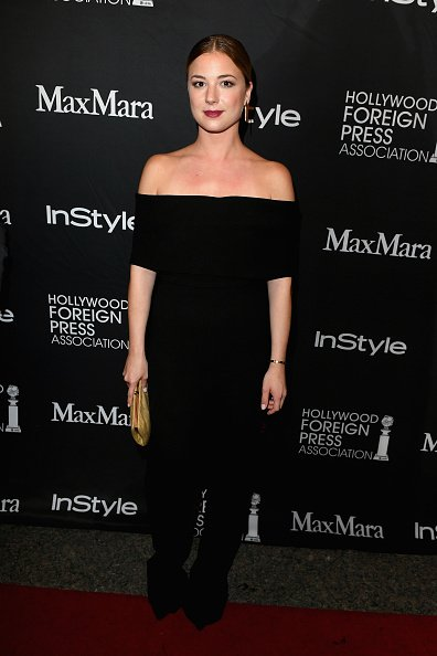 Actress @EmilyVanCamp looking chic in #LelaRose Pre-Spring'17 Jumpsuit at the @Instyle and #HFPA Party at @TIFF_NET https://t.co/RH56ra4SnI