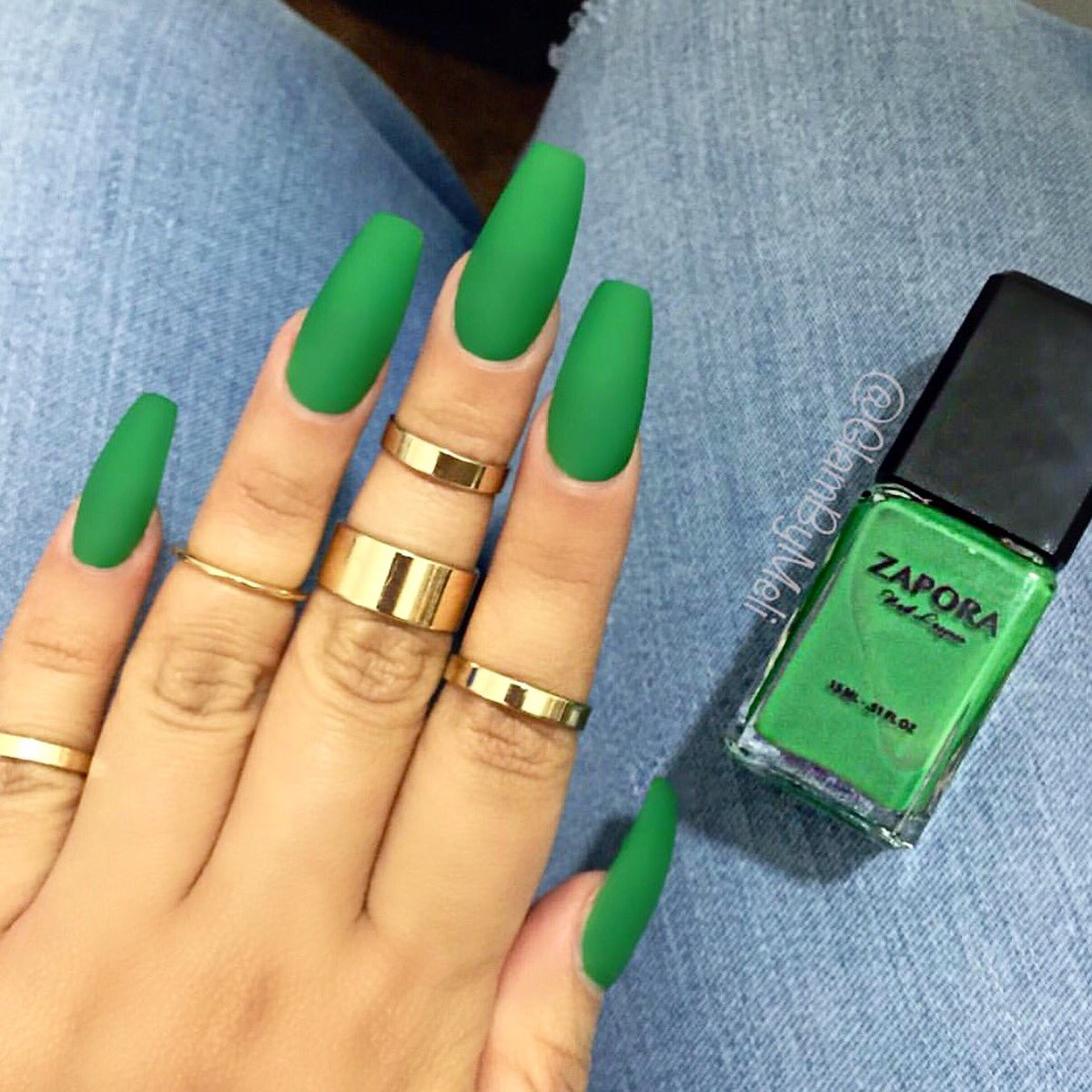 """ZAPORA Nail Lacquer On Twitter: """"🐸🌴💚🍃💚 """"EMERALD CITY"""" Nail"""