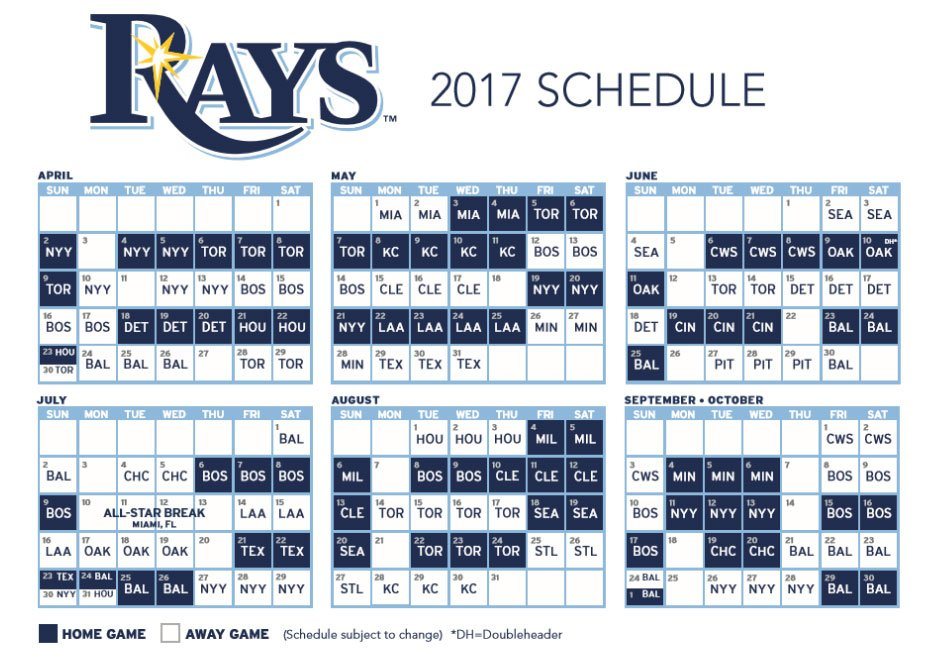 image regarding Rays Printable Schedule identified as TampaBayTimesSports upon Twitter: \