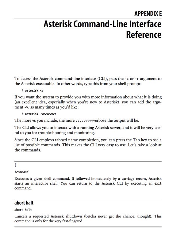 FYI - Asterisk CLI Reference | PIAF - Your own Linux-based PBX