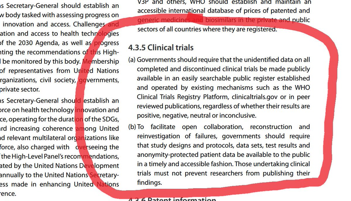 "UN calls on governments to ""require"" #clinicaltrials transparency   https://t.co/DkKPAXVfCU #AllTrials #EBM https://t.co/SJFRXPB38z"
