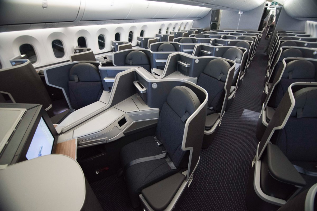 Boeing 787 interior coach viewing gallery - Boeing 787 9 789 Business B E Super Diamond Seat Service Master Thd
