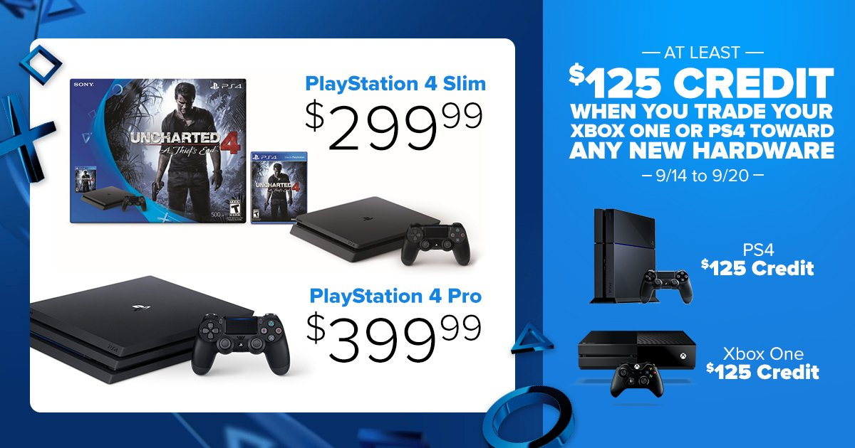 Gamestop On Twitter Get At Least 125 When Trading Select Consoles