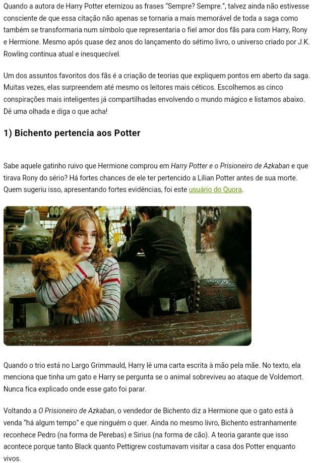 Rafa On Twitter Aqui Tem 5 Teorias De Harry Potter Que Prometem Te