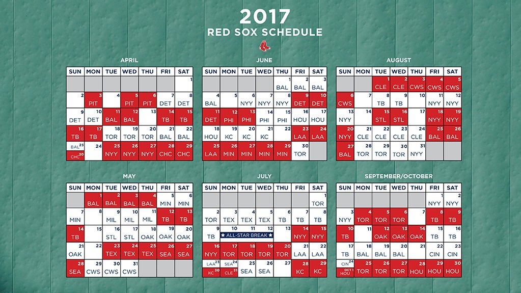 photograph relating to Printable Red Sox Schedule known as Purple Sox upon Twitter: \