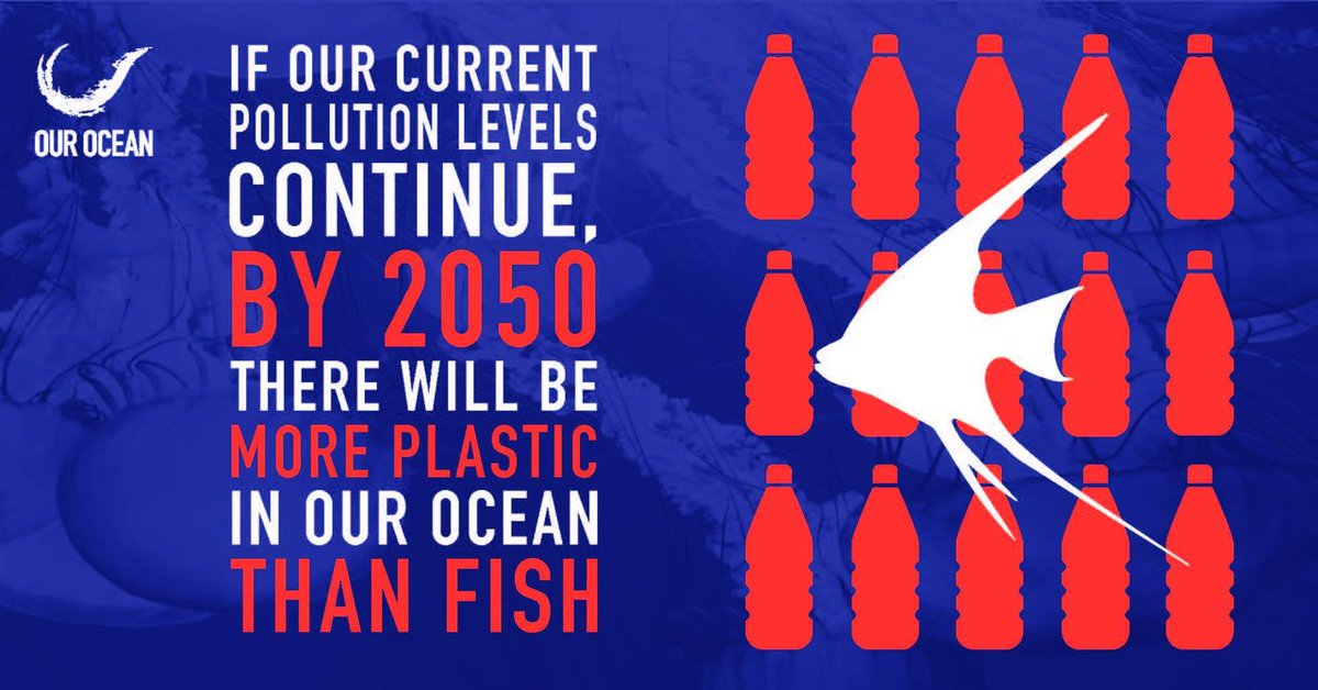 If we don't change things, by 2050 there will be more plastic than fish in #OurOcean. #ActOnClimate https://t.co/2rDIdv0Iye