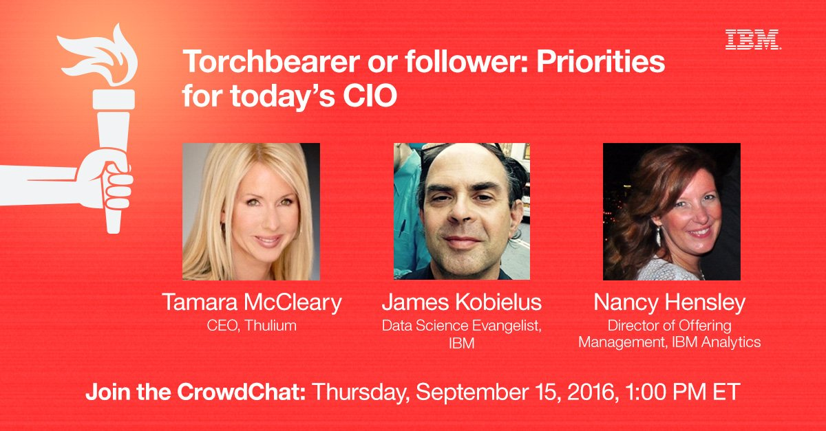 [LIVE CHAT] Priorities for Today's CIO