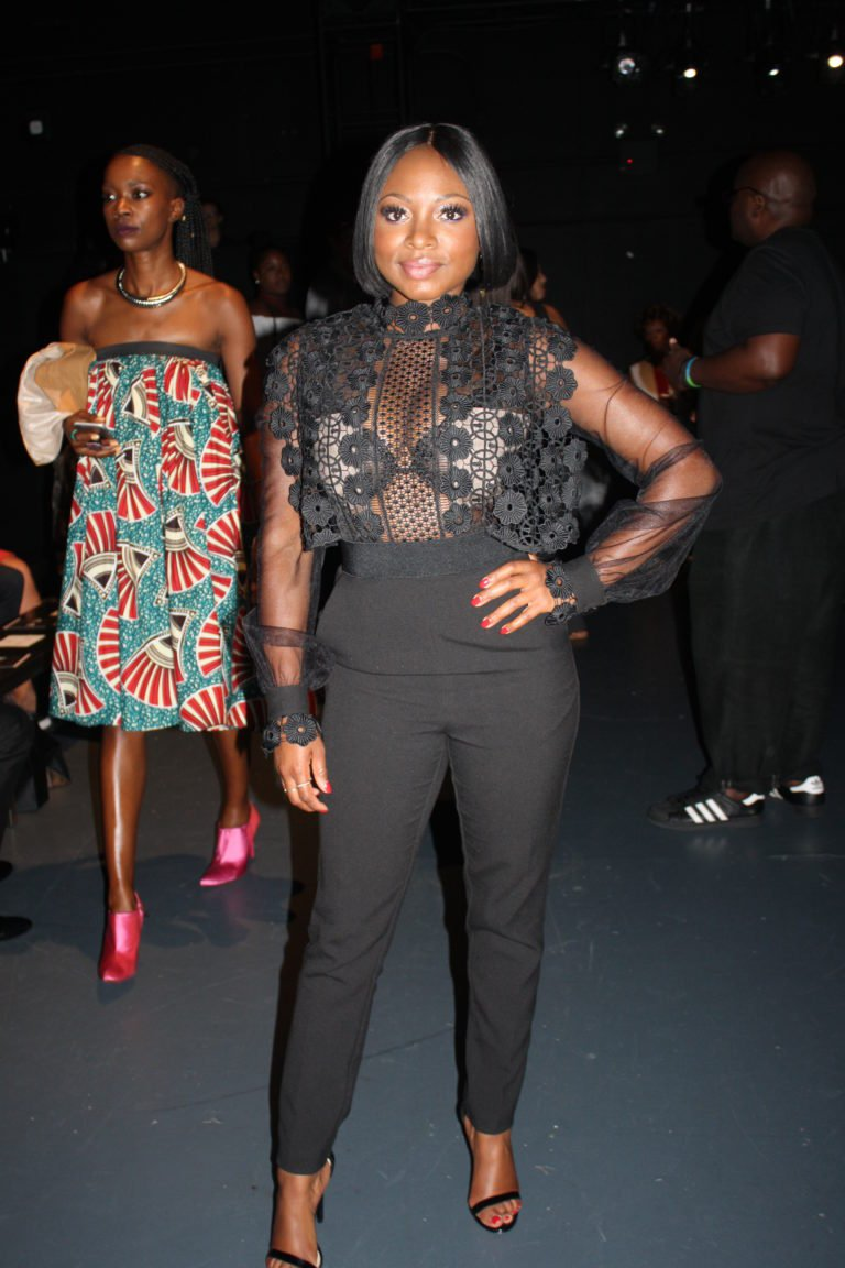 Naturi Naughton's Harlem Fashion Row Self Portrait Black Balloon Sleeve Jumpsuit https://t.co/l8Okd5BvL9