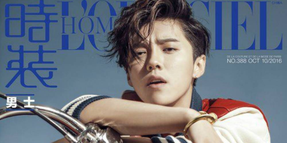 Luhan channels his inner badass biker boy for 'L'Officiel Homme China' https://t.co/PC9EH9eivD