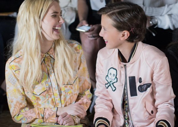 Row 1, seats 10 and Eleven. @milliebbrown @robertsemma #StrangerThings #CoachSpring2017 #NYFW