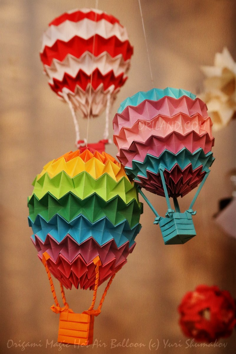 Oriland on twitter hot air balloons diags origami magic ball 538 pm 14 sep 2016 jeuxipadfo Choice Image