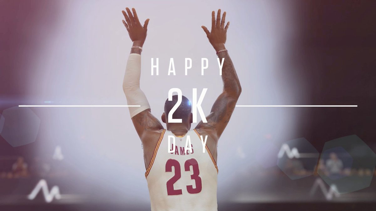 #2KDay is everyone's new birthday. What better gift than the gift of @NBA2K? Pick it up! 2kgam.es/BuyNBA2K17