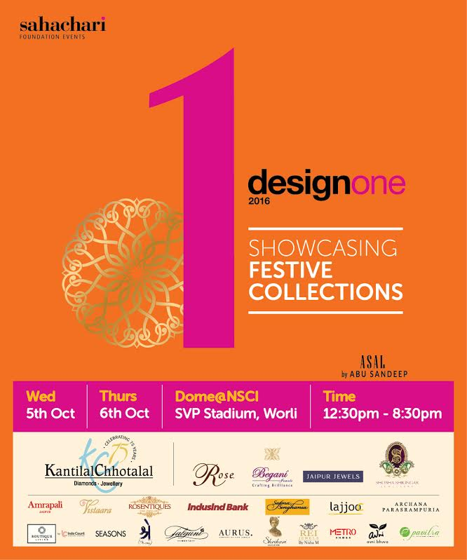 SAVE THE DATE...Design One Mumbai on the 5th & 6th October,NSCI Dome,Worli #SEEMAKHAN #DESIGNONE