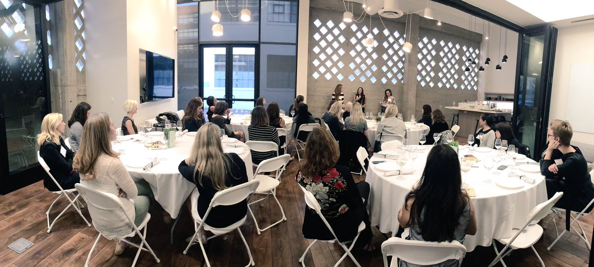 Excited to cohost such a great group of female leaders w/ #Angels. Kicking off the fireside chat w @BethSeidenberg1. https://t.co/DCkBp7p6XN
