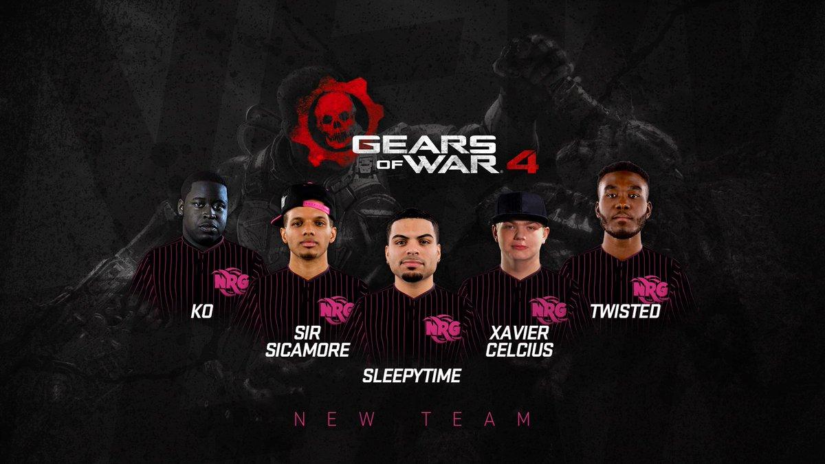 nrg esports on twitter follow nrg s new gears of war 4 team
