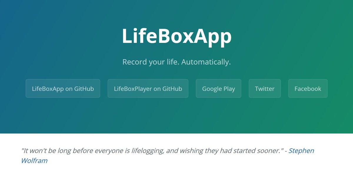 Lifebox Lifelogging on Twitter:
