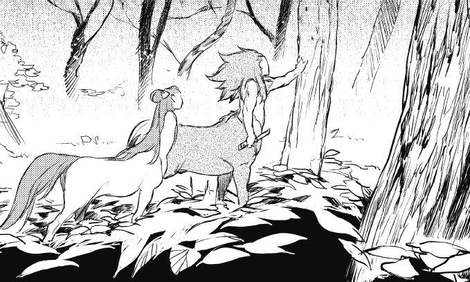 墨佳遼さんの『人馬』第三話公開。人間たちの囲いから、逃げ出すことに成功した松風と小雲雀。幼少期に捕らわれて以来、自然の世界を知らない小雲雀は―― https://t.co/xRJTwOz0Z2 https://t.co/XRK9dfR7iP