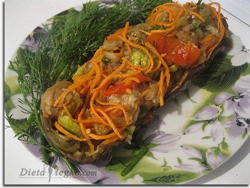 фаршированные баклажаны корейски рецепты фото