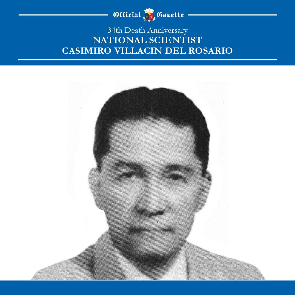 Today is the 34th death anniversary of our National Scientist, Casimiro del Rosario. https://t.co/sGQ2Fcgjic