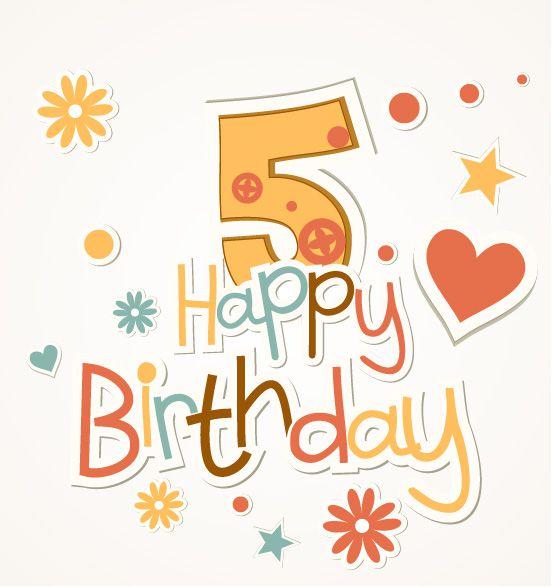 Открытка онлайн с днем рождения 5 лет, котики картинки для