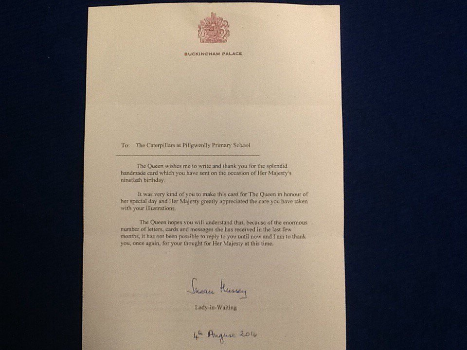 Pillgwenlly Primary On Twitter Caterpillars Received Royal Letter