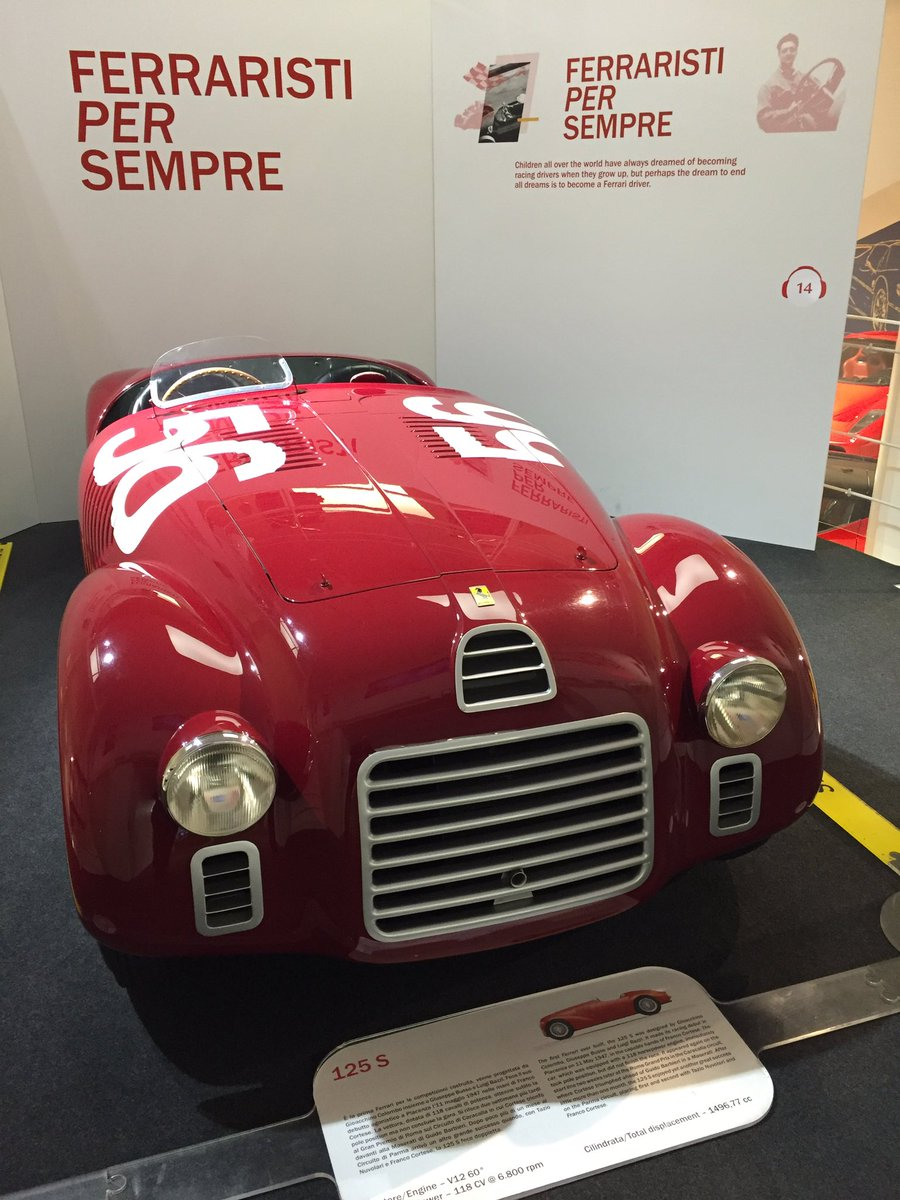 Ferrari North Europe On Twitter And The First Ferrari Ever Made A 125 S At The Museo Ferrari In Maranello