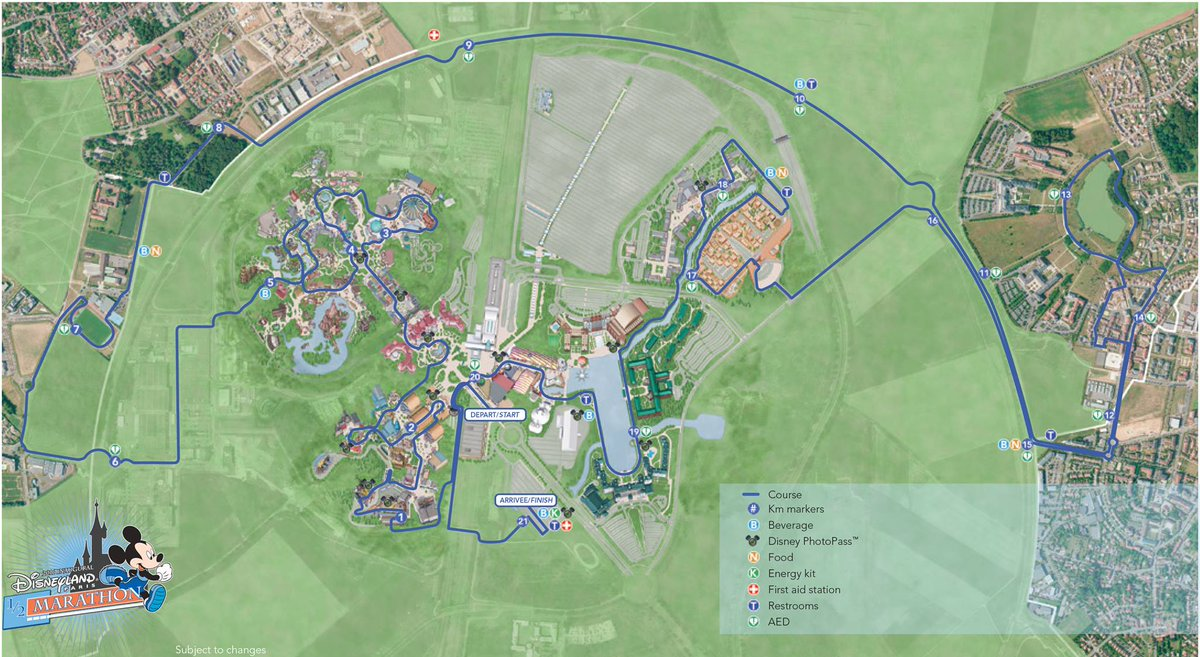 ED On Twitter Course Maps For The Disneyland Paris K And Half - Disneyland brazil map