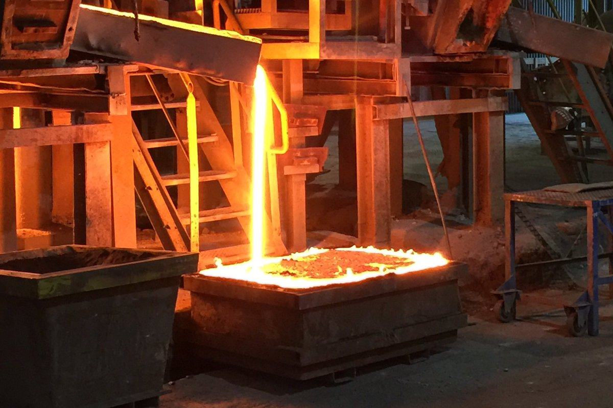 Molten steel & other adventures from our Staub factory tour in FR -- on Snapchat (