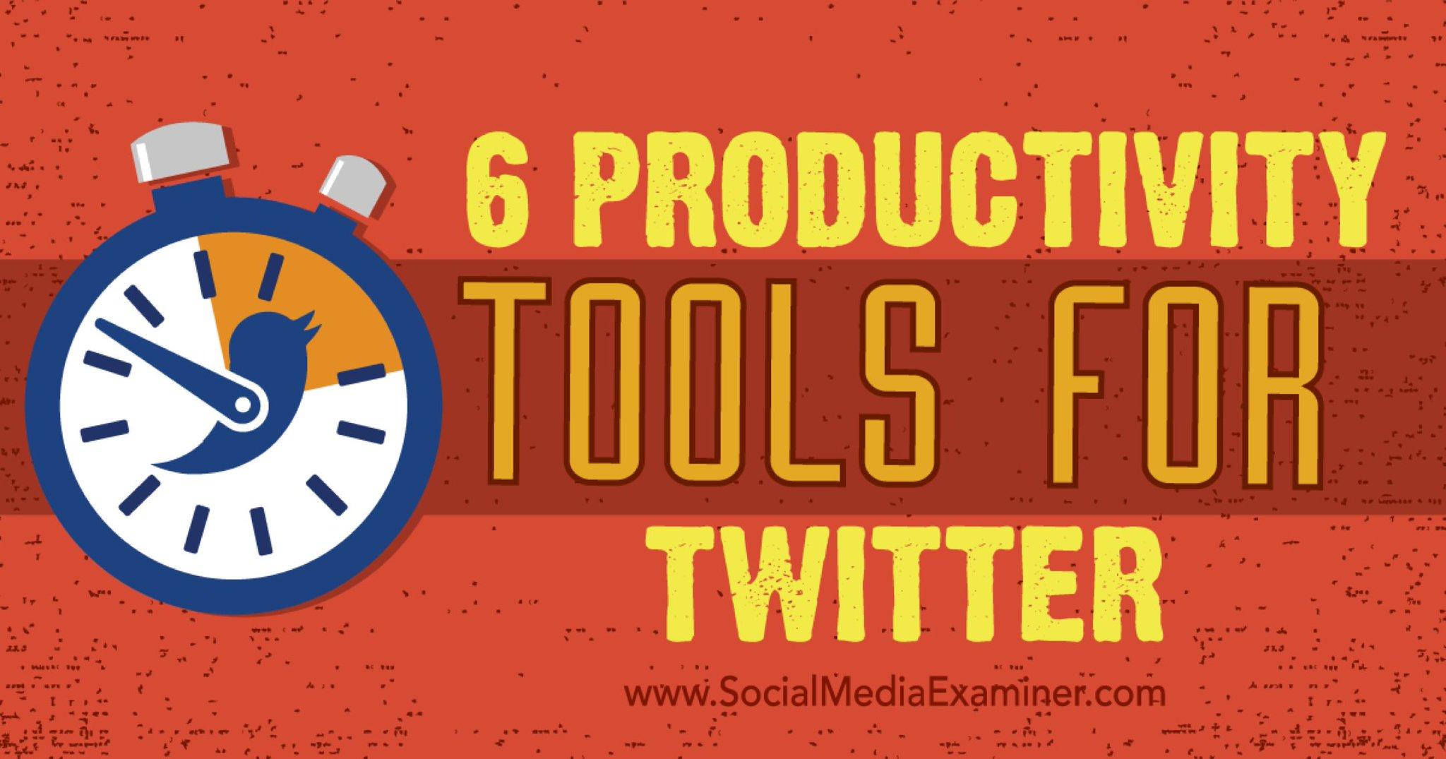 6 Productivity Tools for Twitter https://t.co/TRsMM9ltRN via @iagdotme #TwitterSmarter https://t.co/6EfCpYD9w3