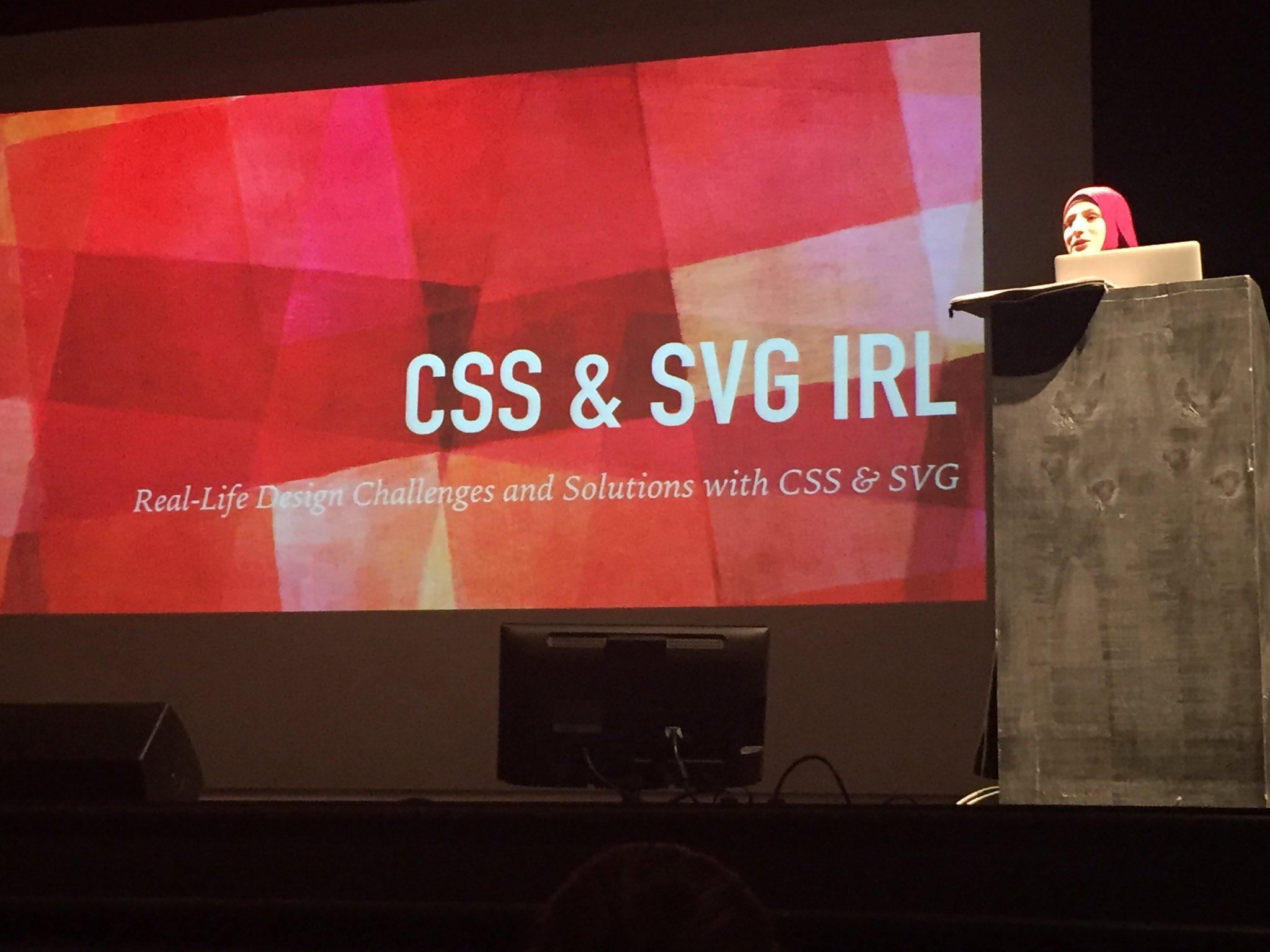 """CSS & SVG IRL"" @SaraSoueidan #ftf16 https://t.co/xjws6QUHWa"