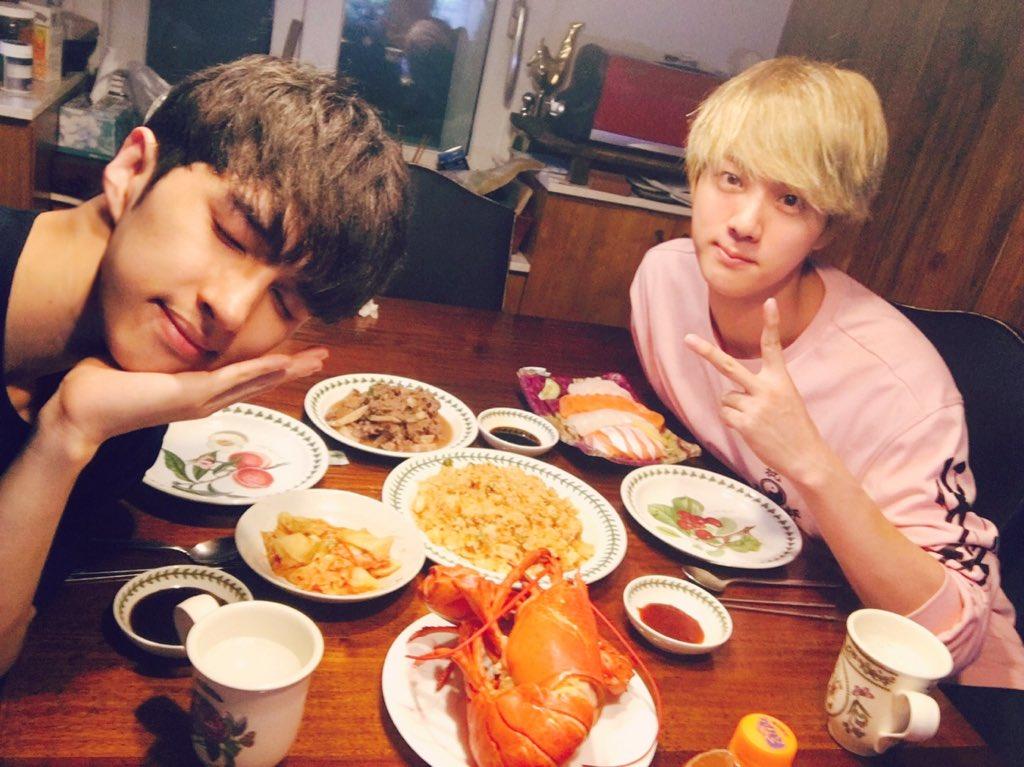 [Picture] BTS Jin with Vixx's Ken [160915]