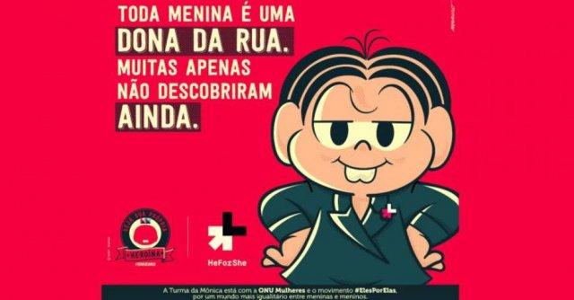 Mônica apoia campanha feminista; veja https://t.co/dWeWbSErt9