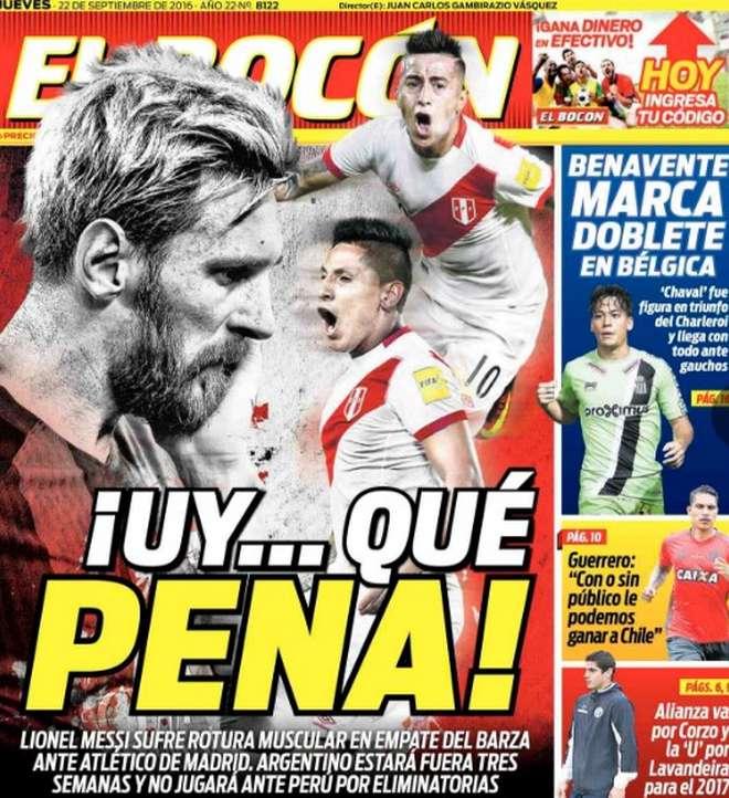 Diario El Bocón El Diario El Bocón De Perú Y Su Portada Por La