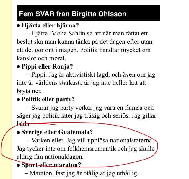 Anledning nummer ett varför jag inte backar Birgitta Ohlsson.