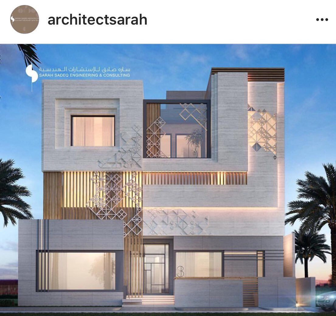 "Modern Villa Exterior Design: Arch. Sarah Sadeq 🇰🇼 On Twitter: ""400 M Private Villa , By"